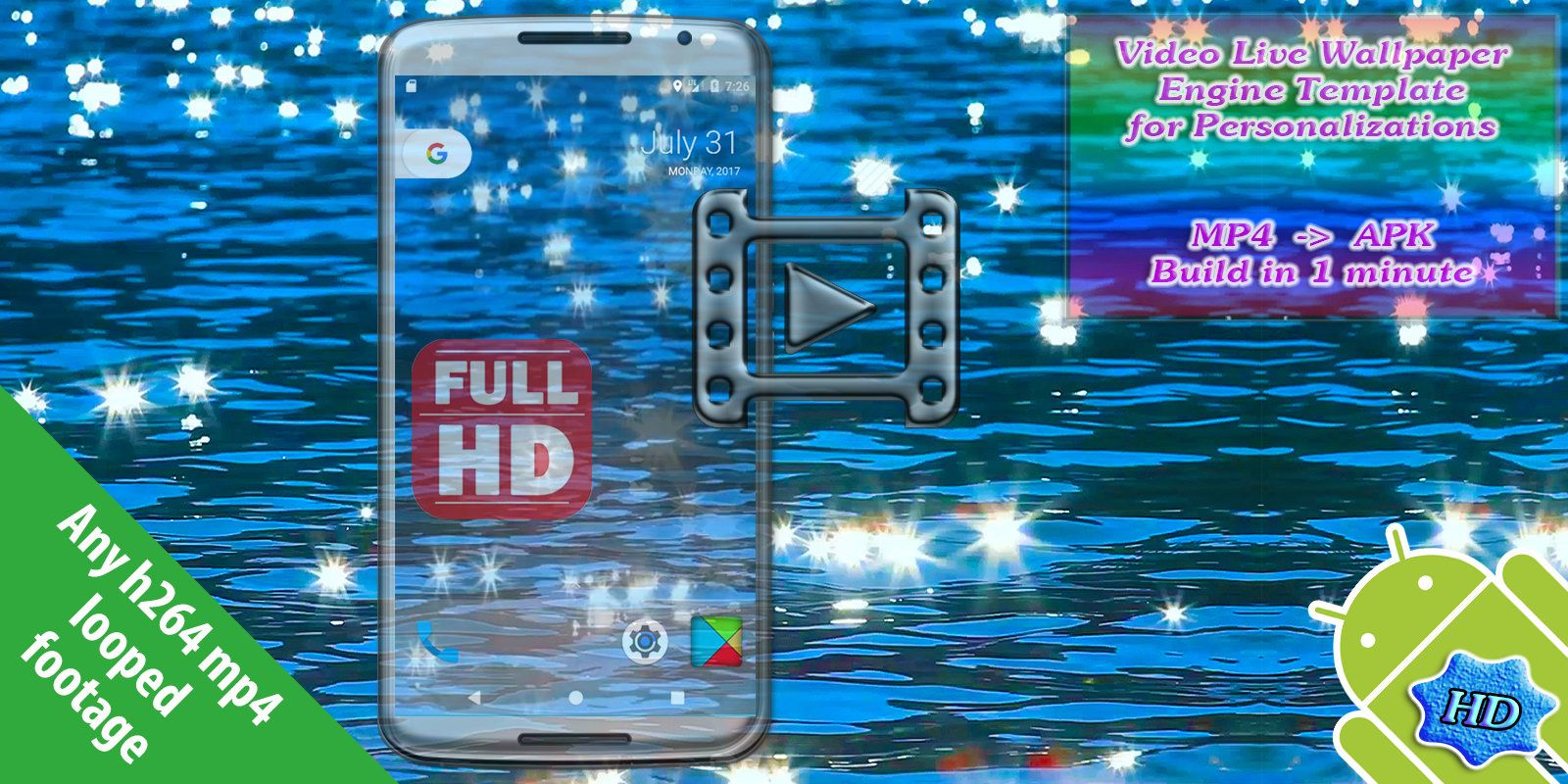 Video Live Wallpaper Engine Template For Android