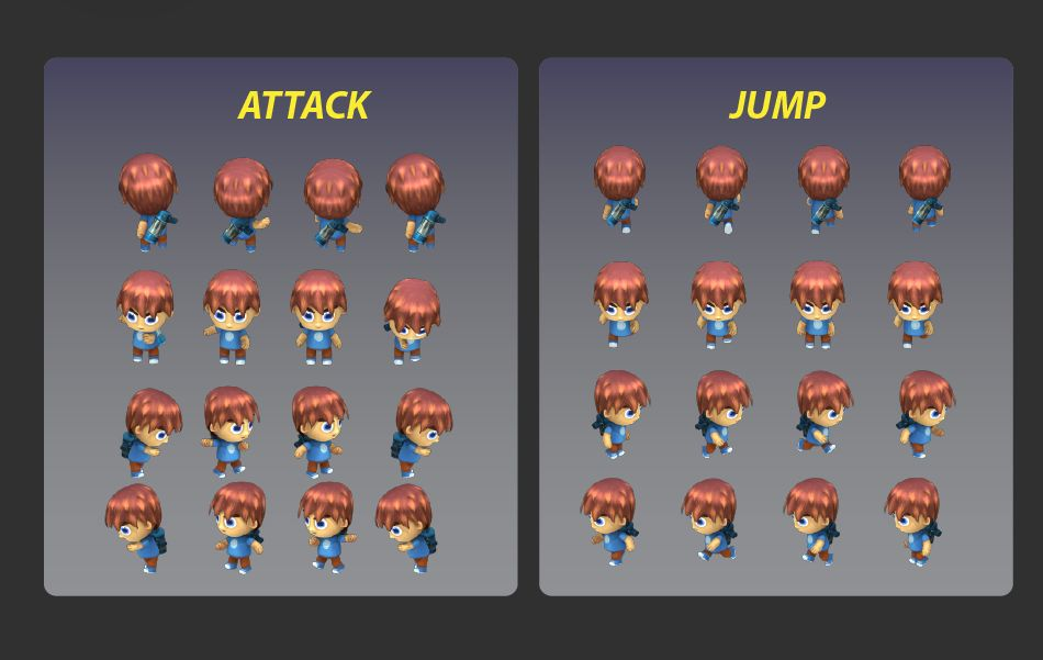 4-Directional  Game Character Sprites  Screenshot 3