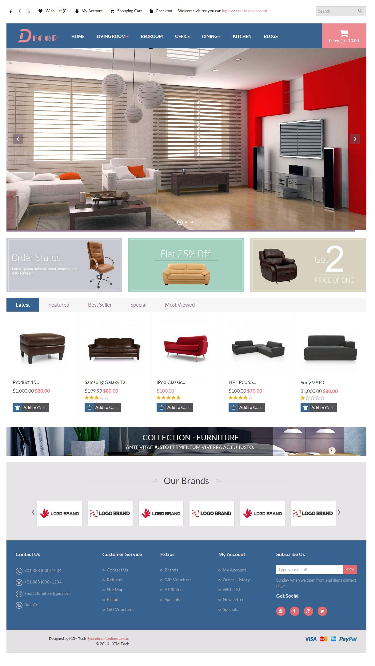 Decor - Responsive Opencart Theme Screenshot 2