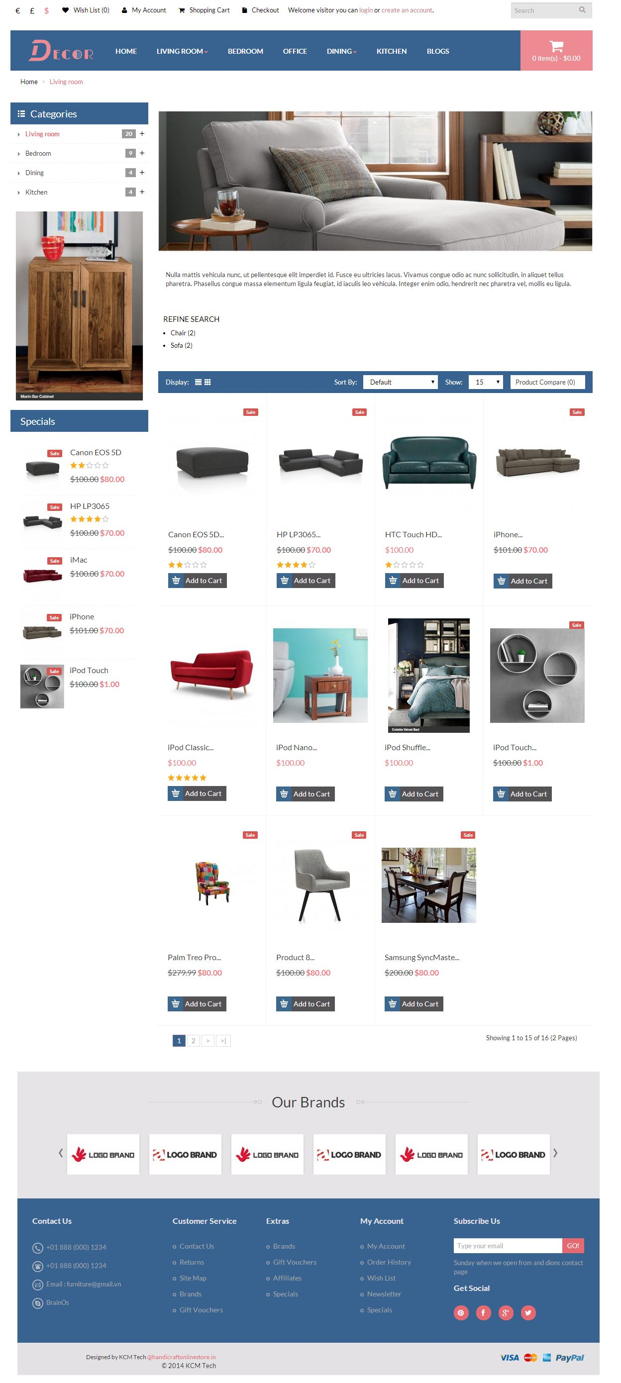 Decor - Responsive Opencart Theme Screenshot 3