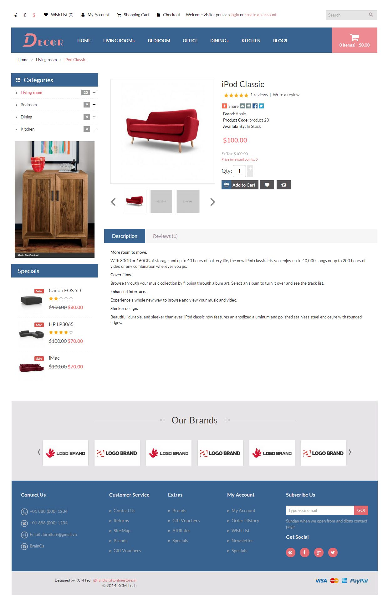 Decor - Responsive Opencart Theme Screenshot 4
