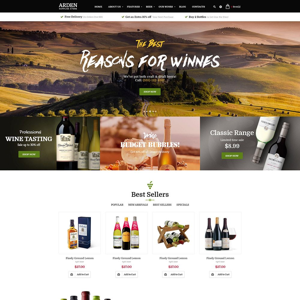 Pas Arden - PrestaShop Theme Screenshot 2