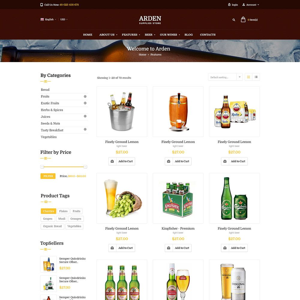 Pas Arden - PrestaShop Theme Screenshot 6