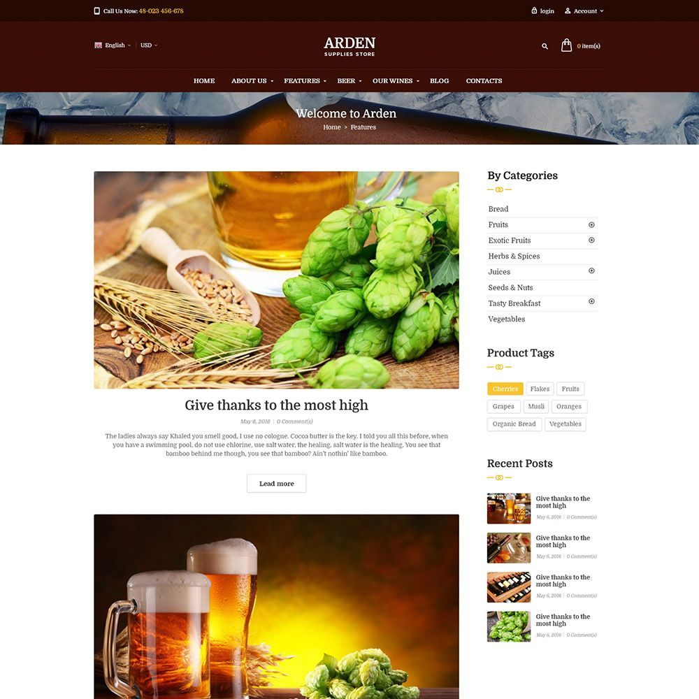 Pas Arden - PrestaShop Theme Screenshot 8
