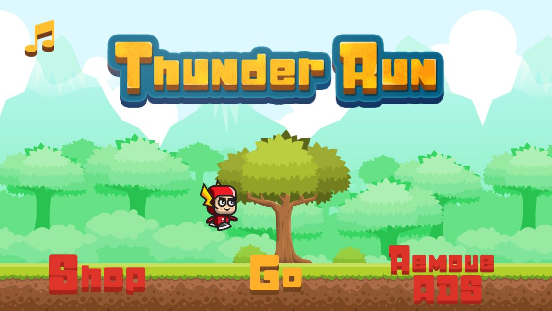 Thunder Run - Buildbox Game Template Screenshot 1