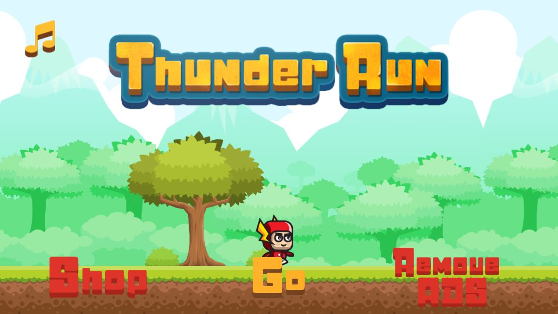 Thunder Run - Buildbox Game Template Screenshot 2