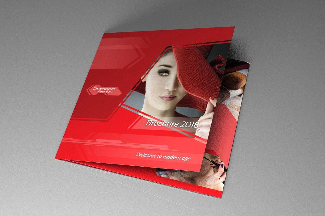 Indesign Brochure Red Diamond Template Screenshot 1
