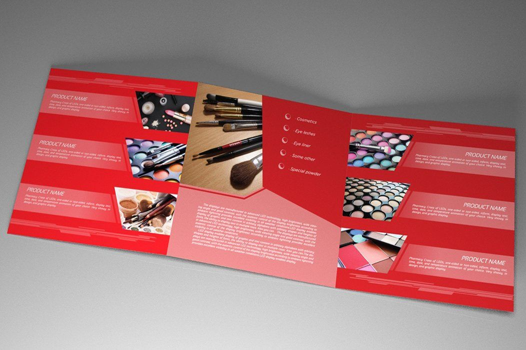 Indesign Brochure Red Diamond Template Screenshot 3