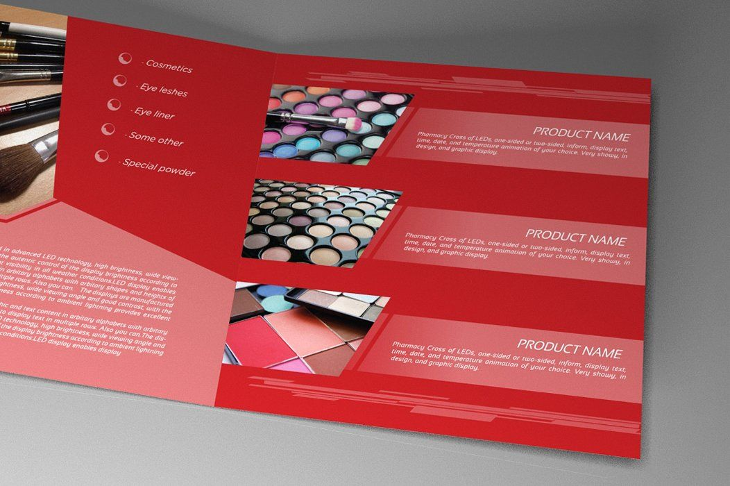 Indesign Brochure Red Diamond Template Screenshot 7
