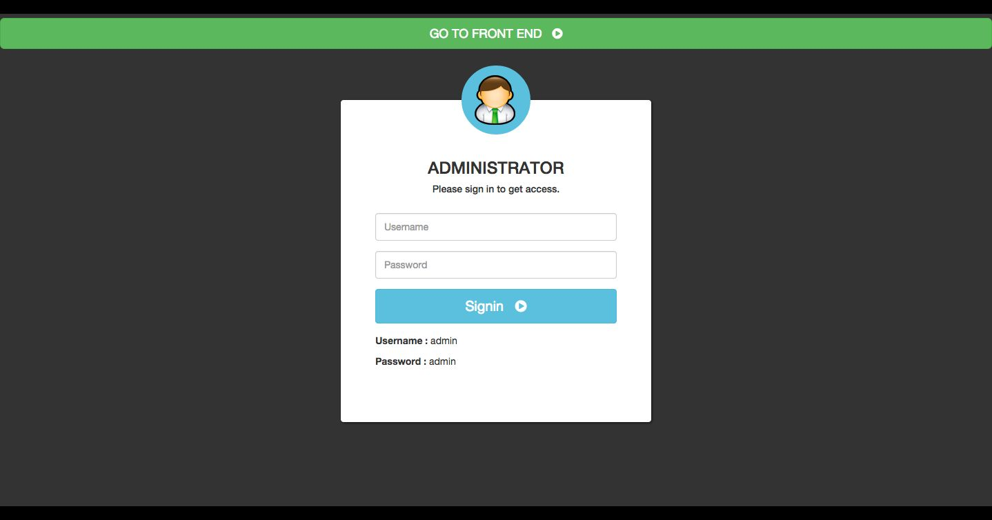 User Login and Management PHP Script Screenshot 1