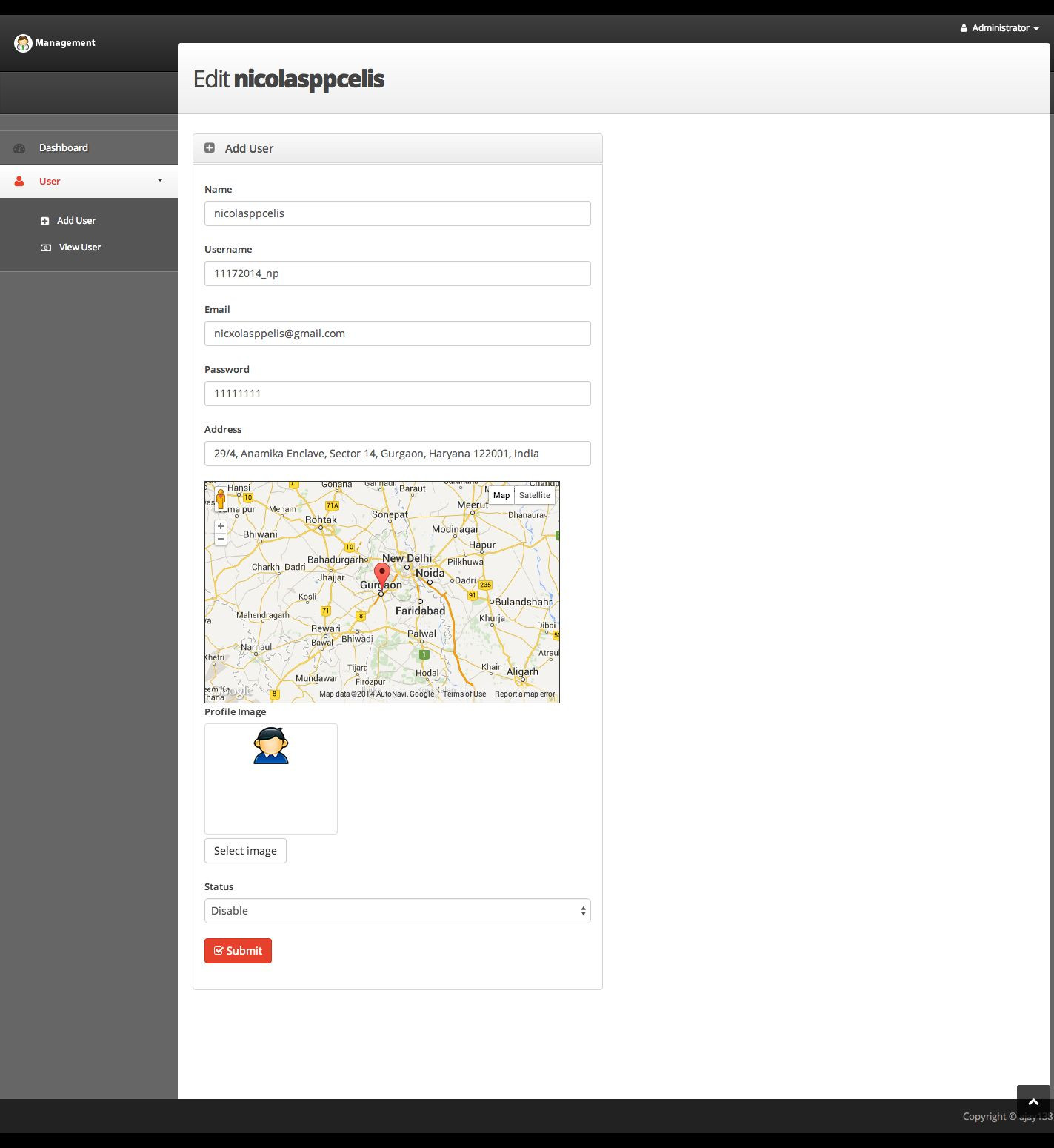 User Login and Management PHP Script Screenshot 3