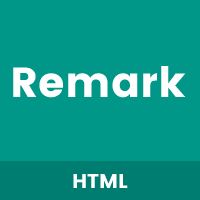 Remark - One Page HTML Template.