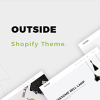 Outside - Minimalist eCommerce  Shopify Theme