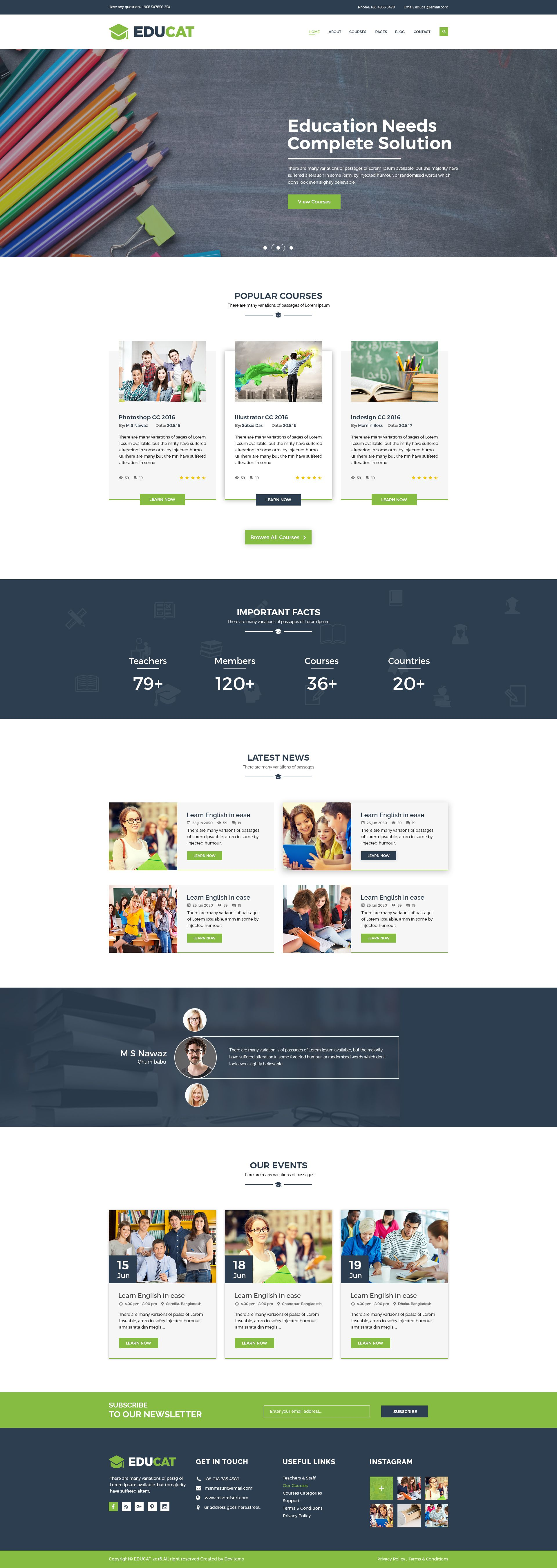Educat - Education HTML Template Screenshot 2