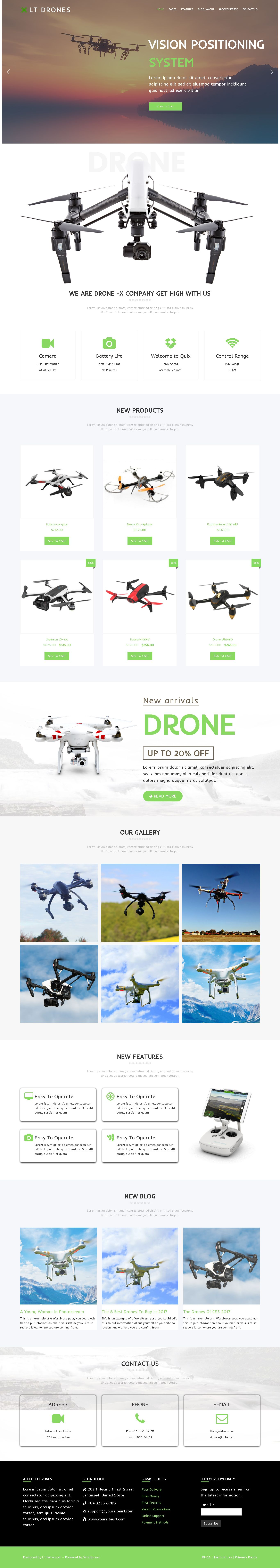 LT Drones - Drone WordPress Theme Screenshot 1