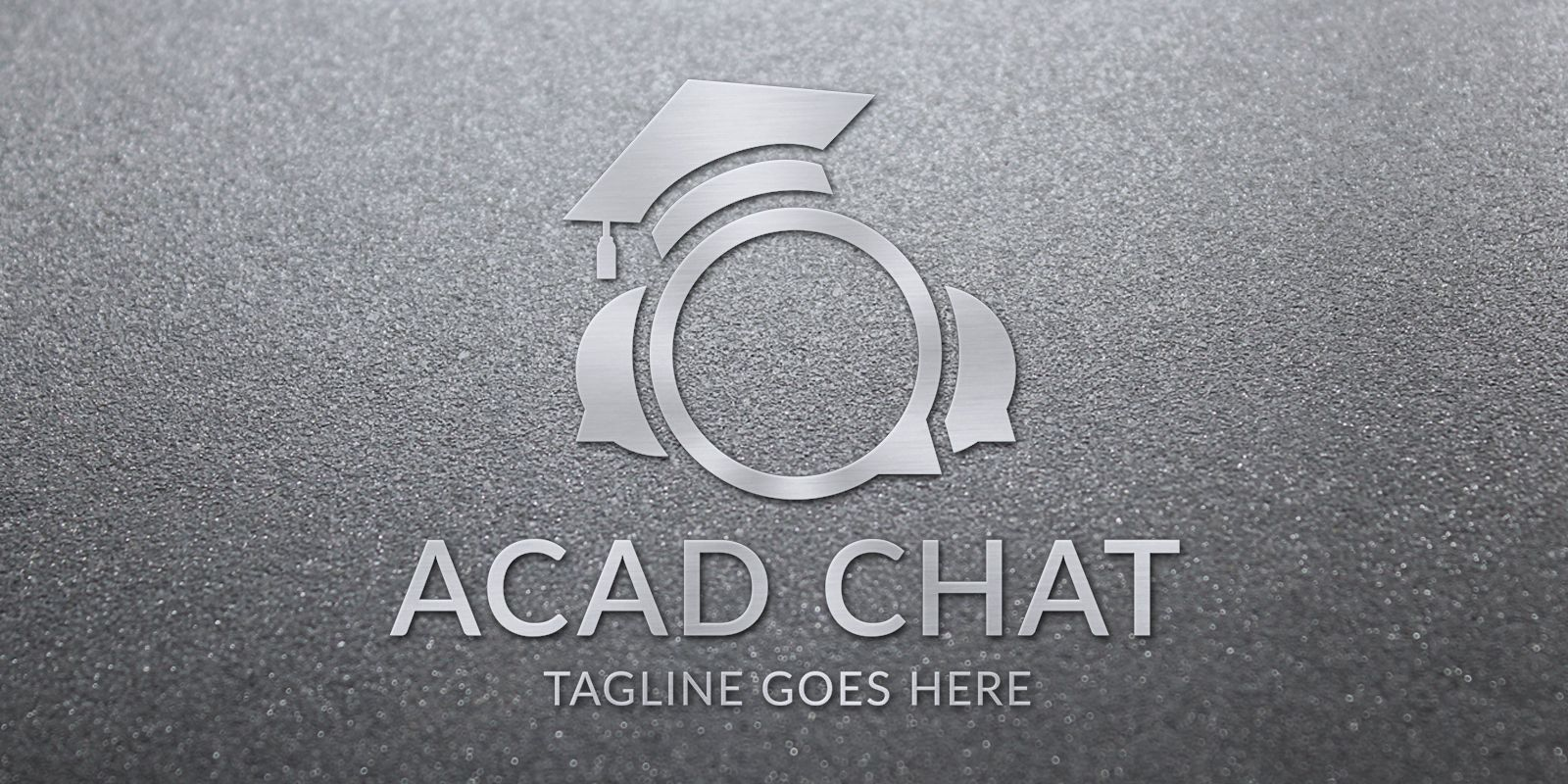 Acad Chat - Logo Template Screenshot 1
