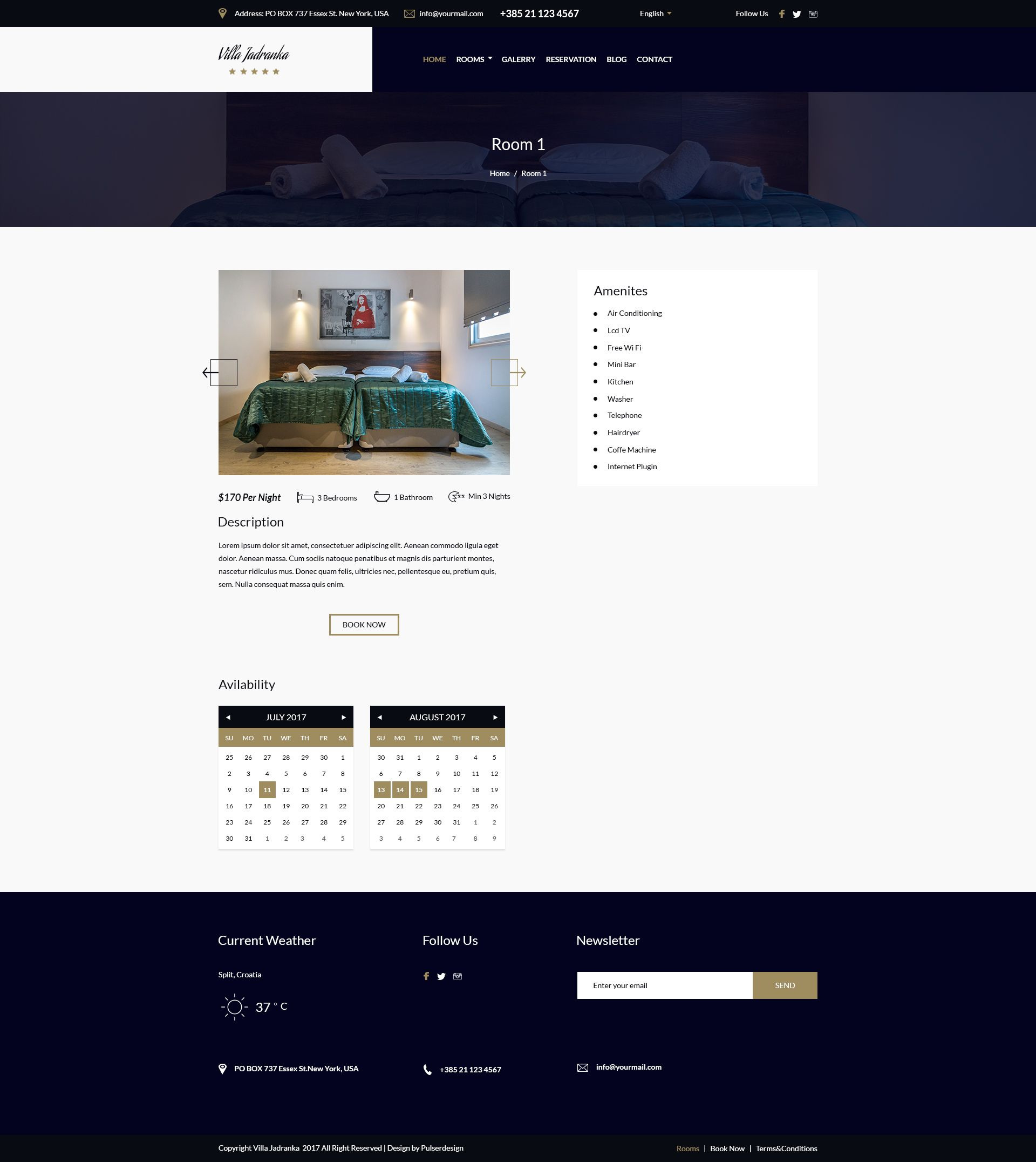 Villa Jadranka - Website PSD Template Screenshot 2