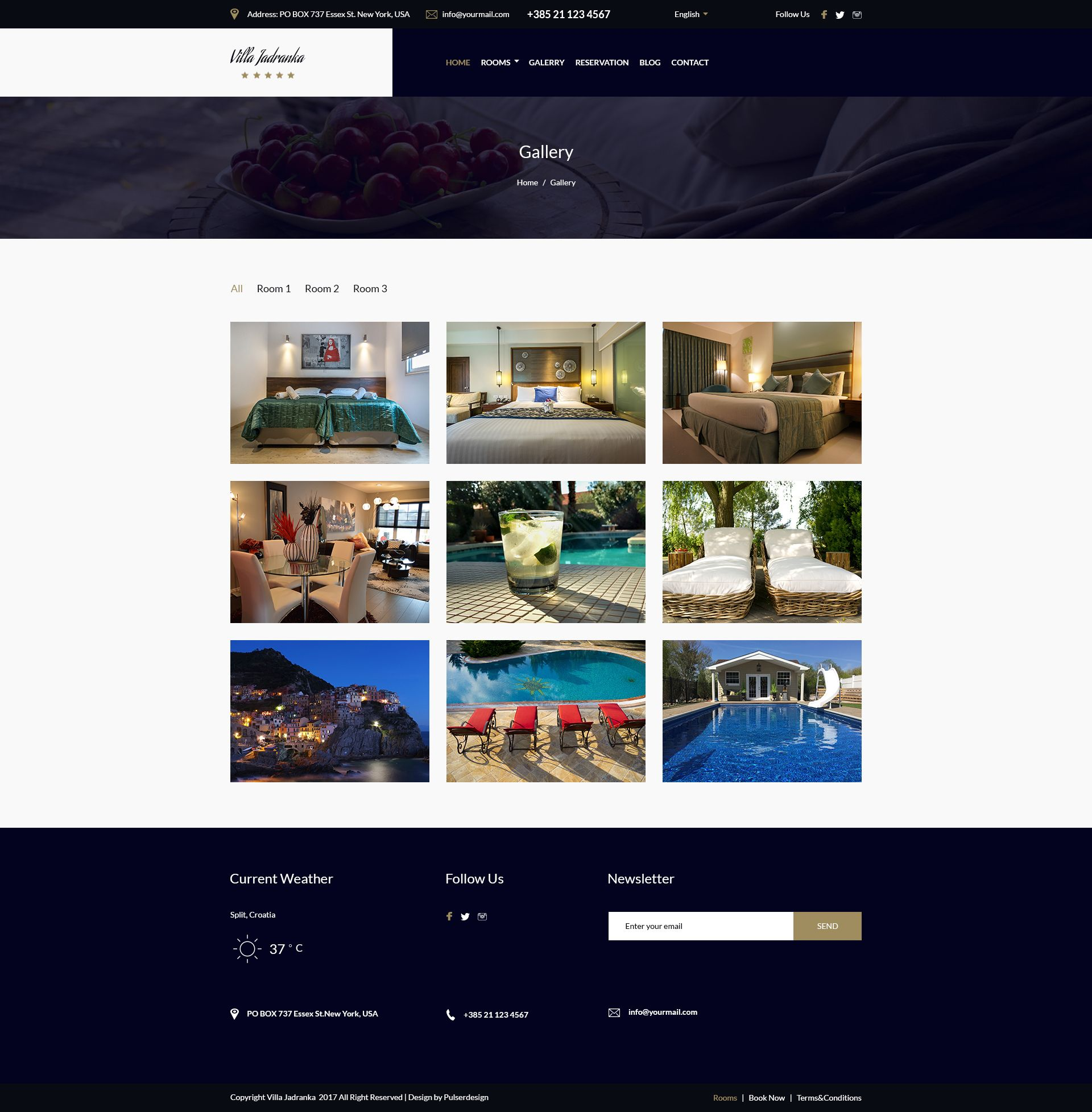 Villa Jadranka - Website PSD Template Screenshot 3