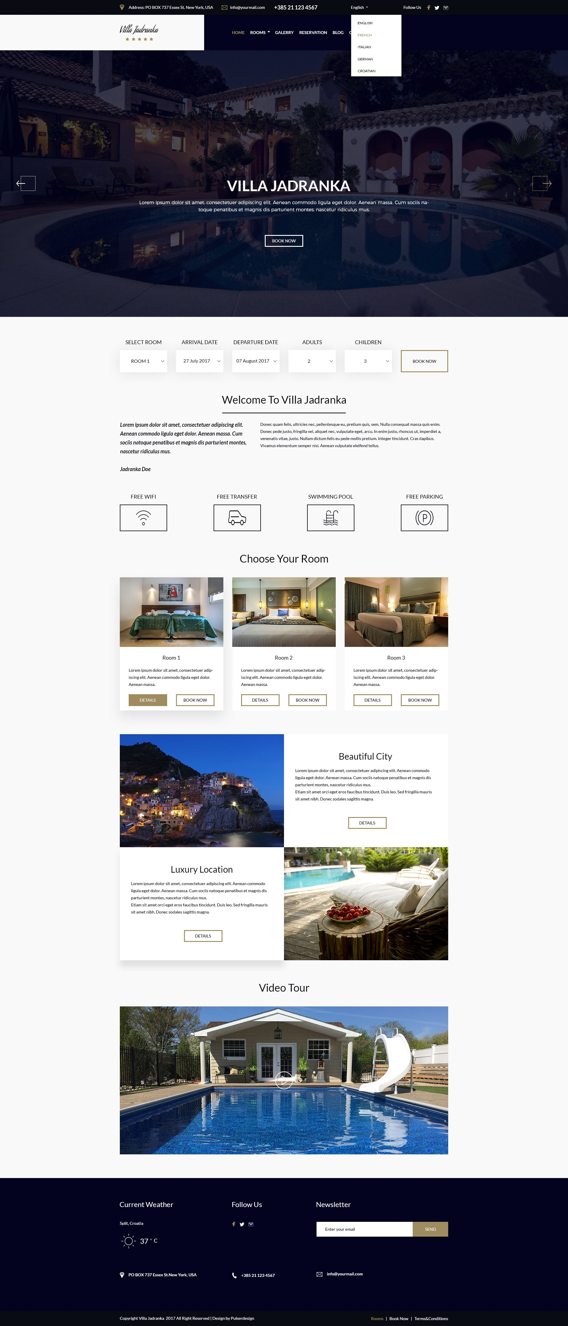 Villa Jadranka - Website PSD Template Screenshot 6