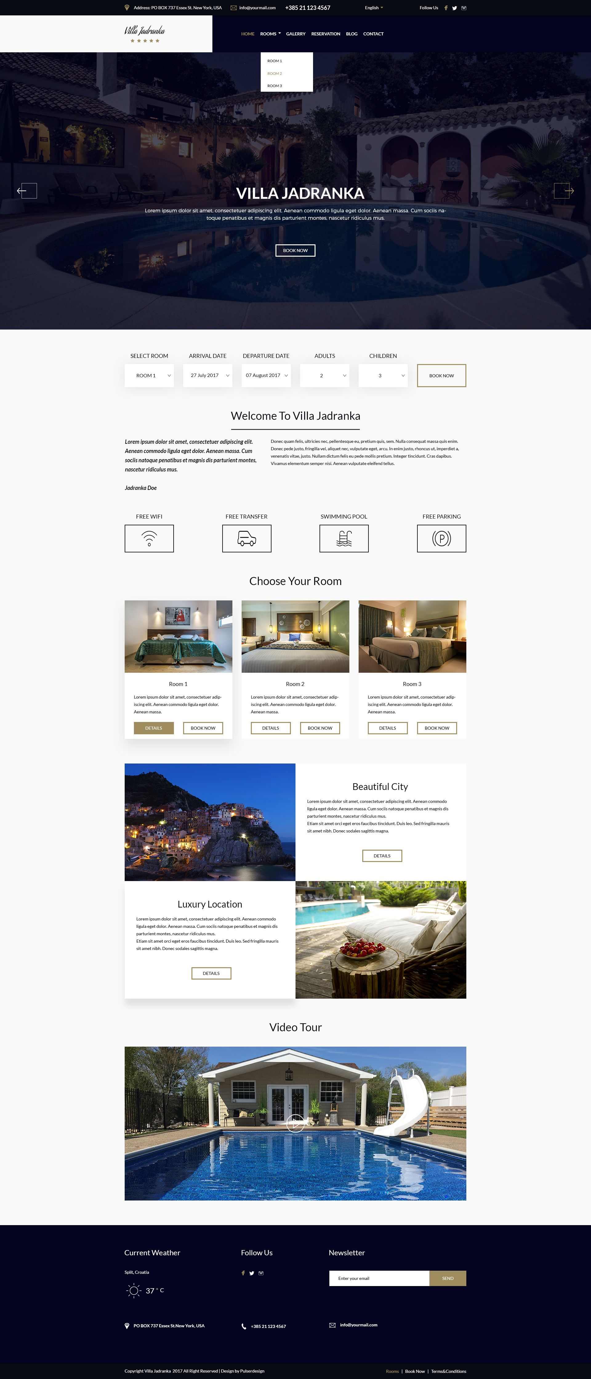 Villa Jadranka - Website PSD Template Screenshot 7