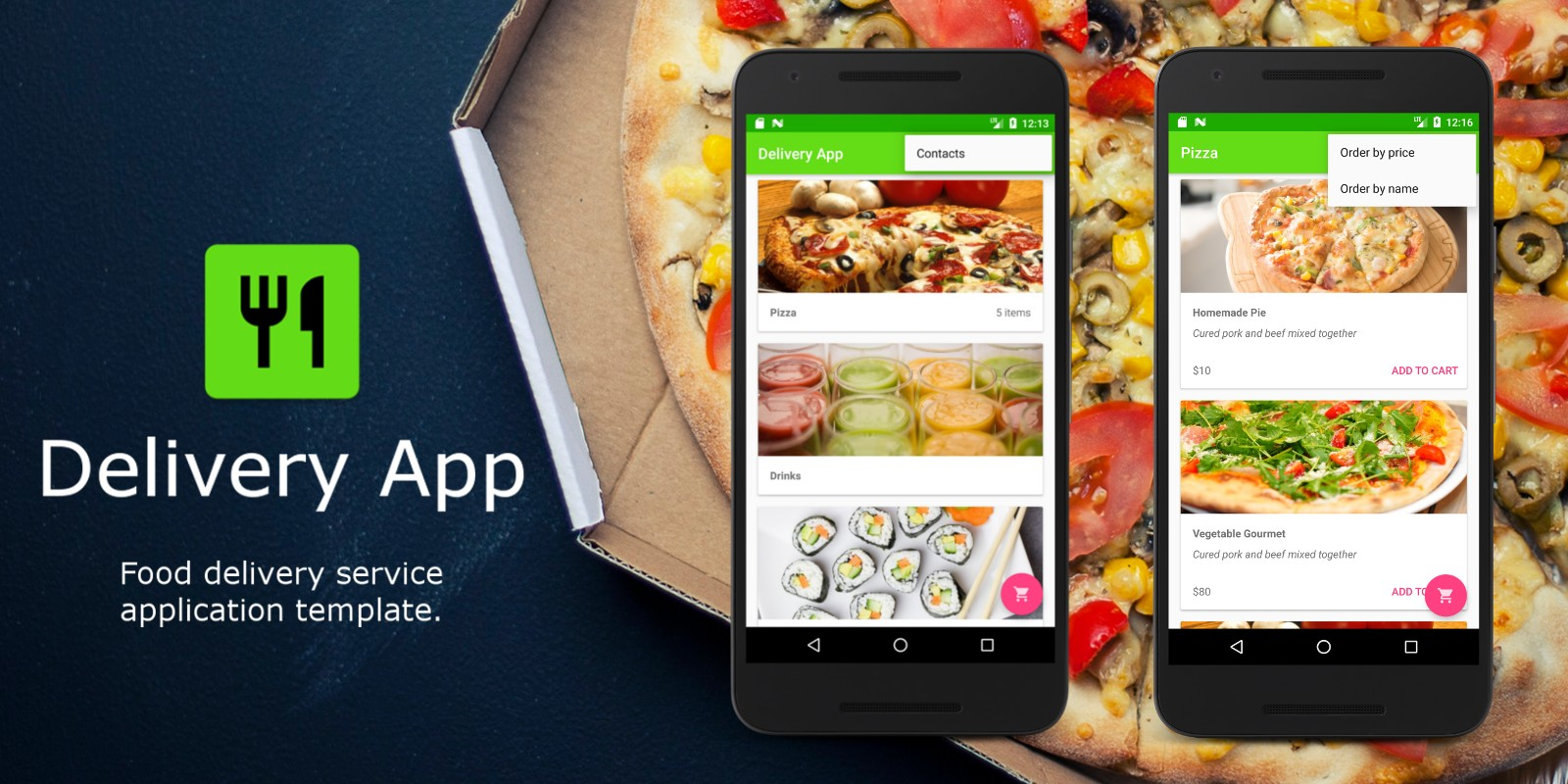 Food delivery restaurant app android source code