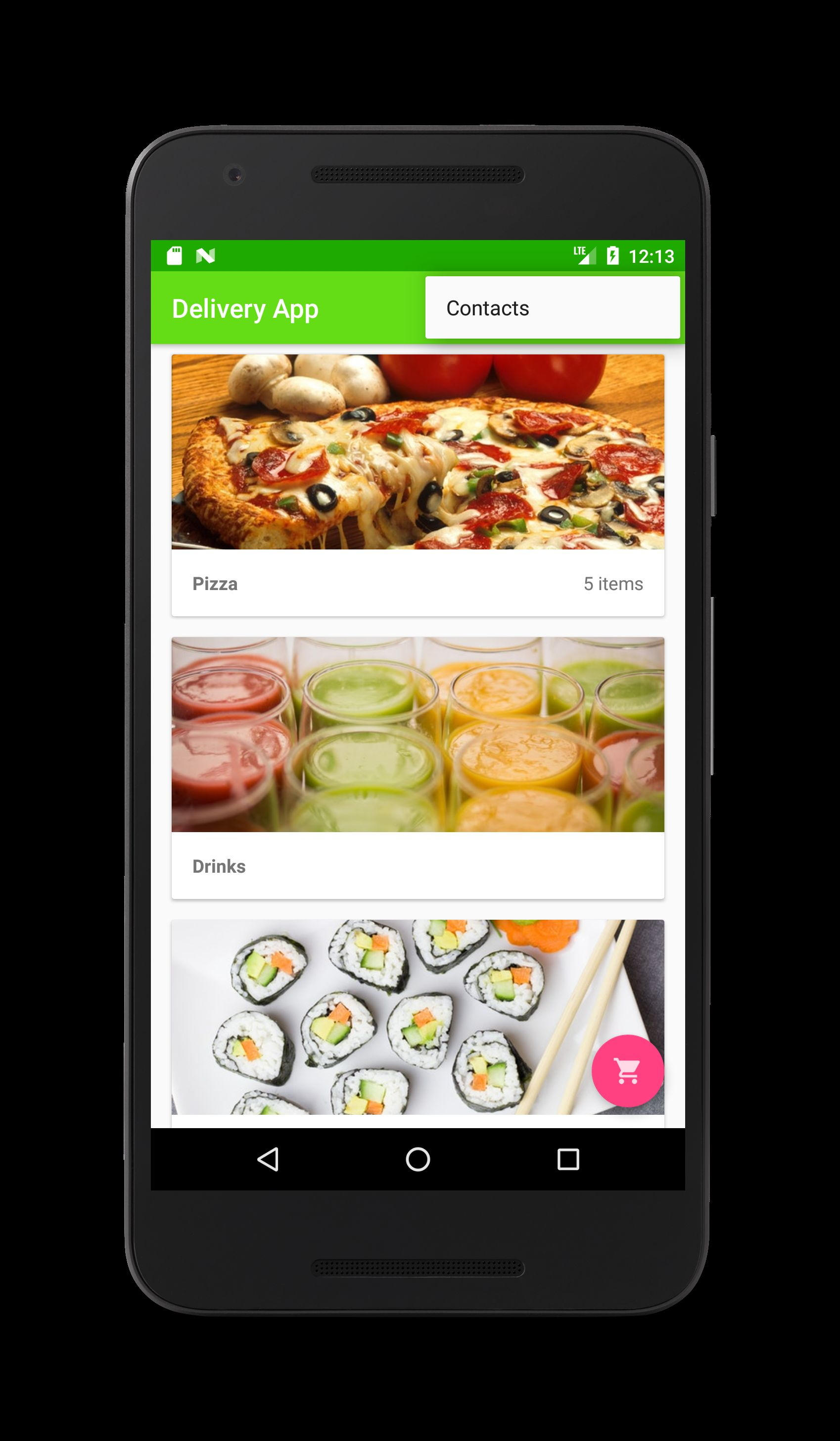 Food Delivery Restaurant App - Android Source Code Screenshot 1