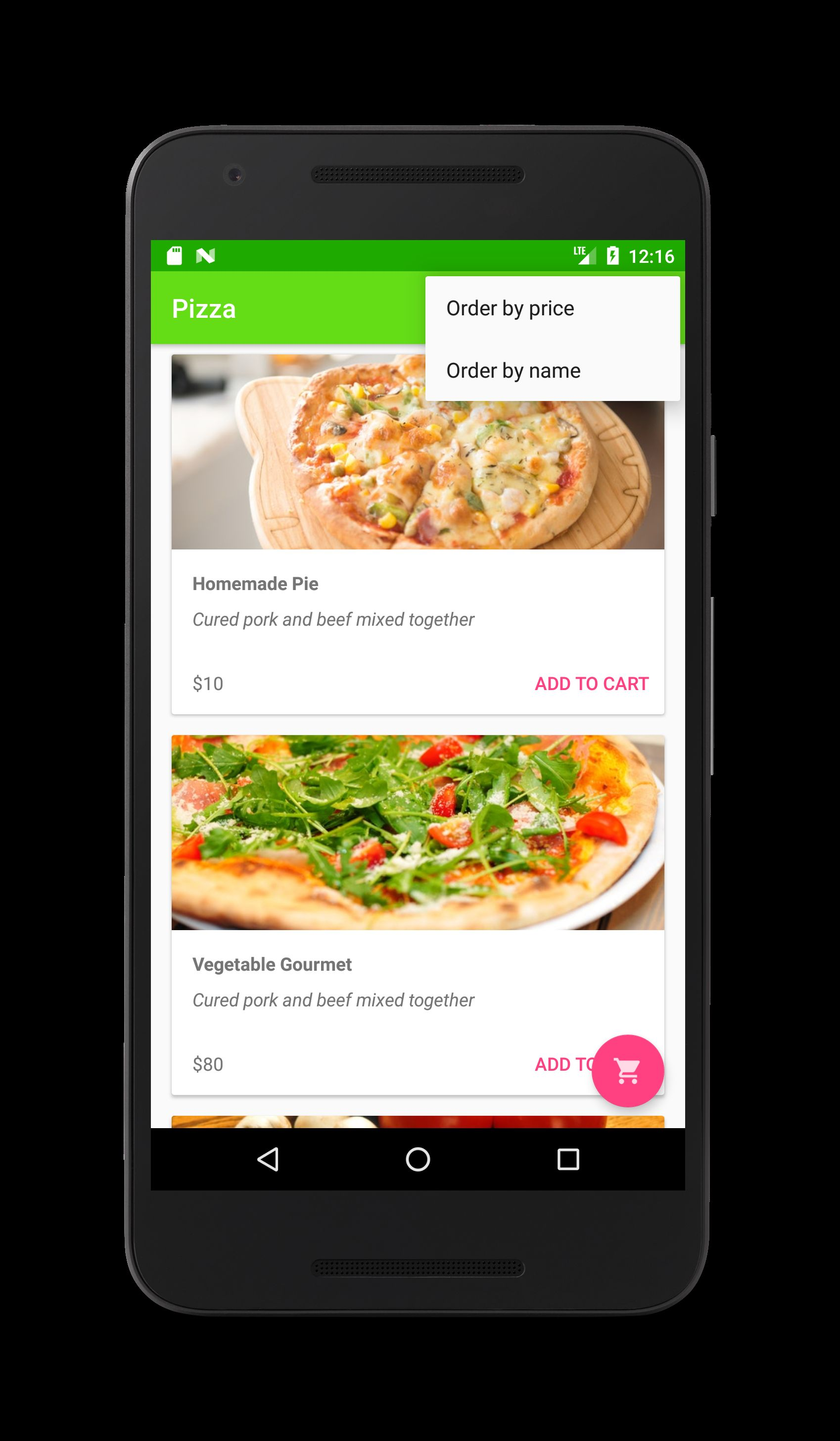 Food Delivery Restaurant App - Android Source Code Screenshot 3