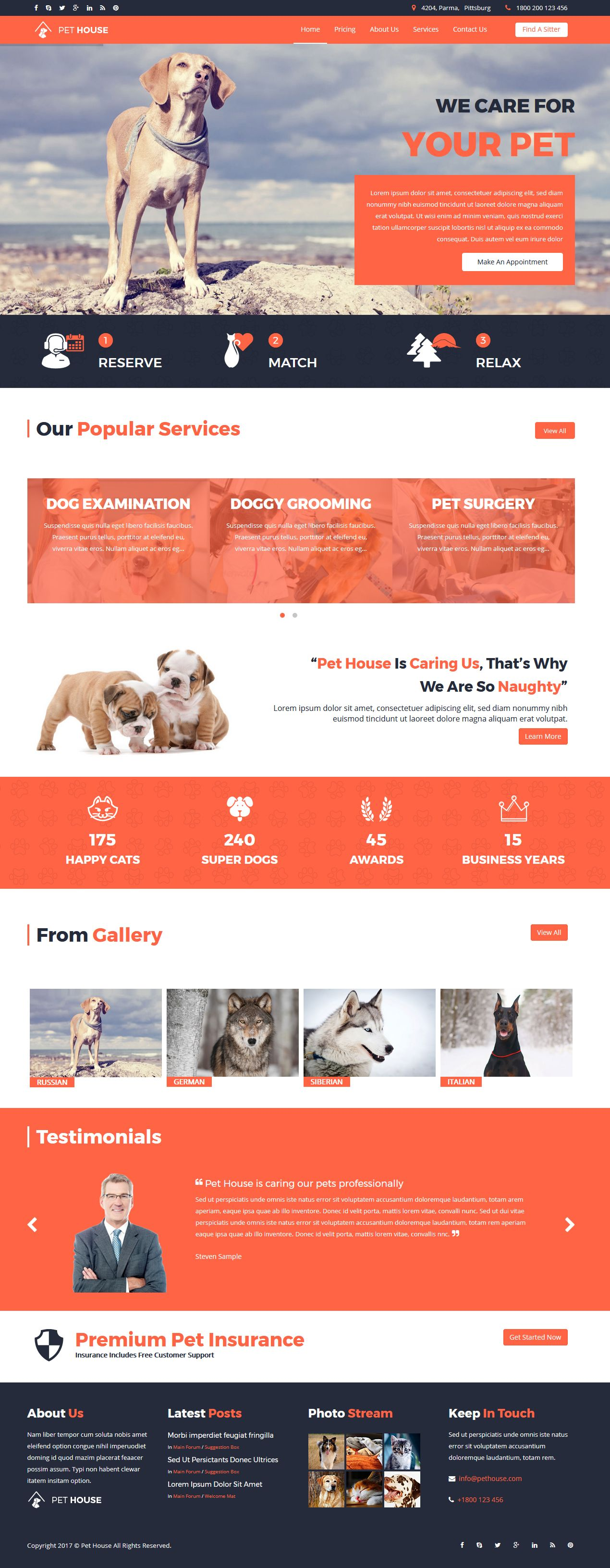 Pet House - Pet Care Joomla Template Screenshot 2