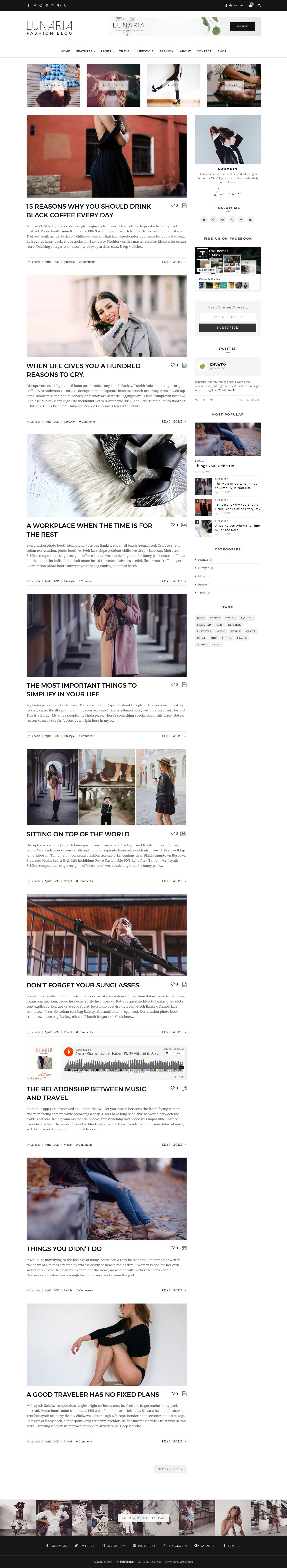 Lunaria - Clean Personal WordPress Theme Screenshot 2