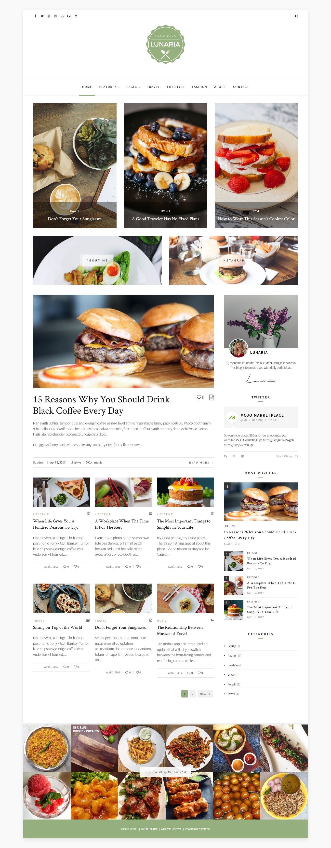 Lunaria - Clean Personal WordPress Theme Screenshot 3