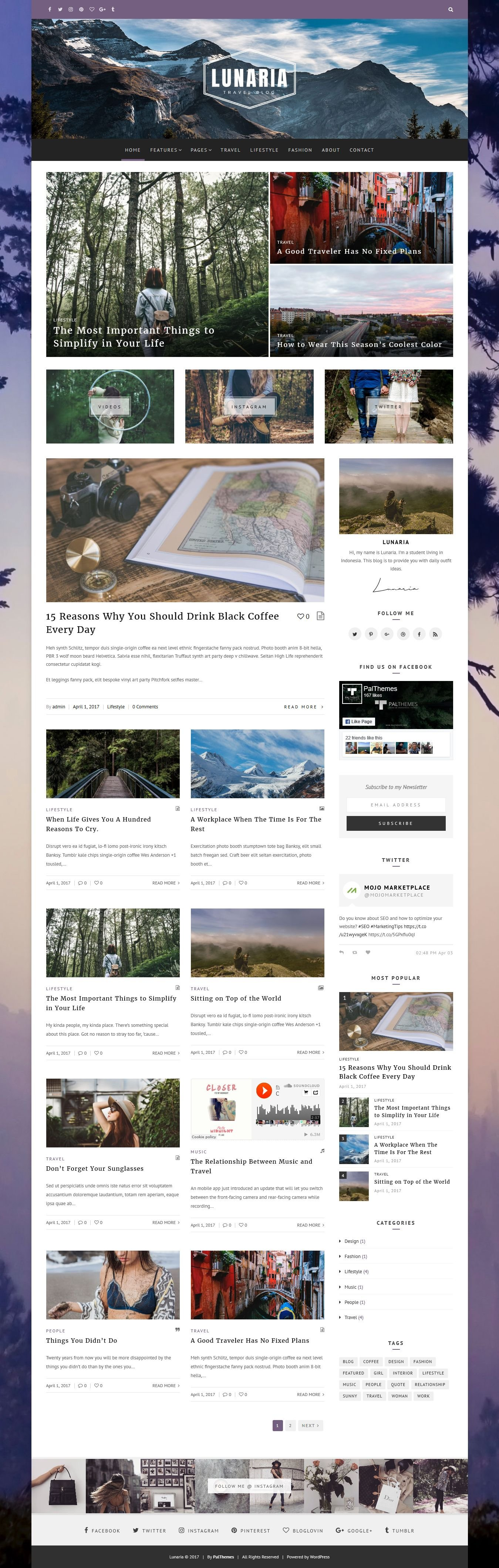 Lunaria - Clean Personal WordPress Theme Screenshot 9