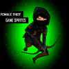 Female Dark Thief Character Sprites