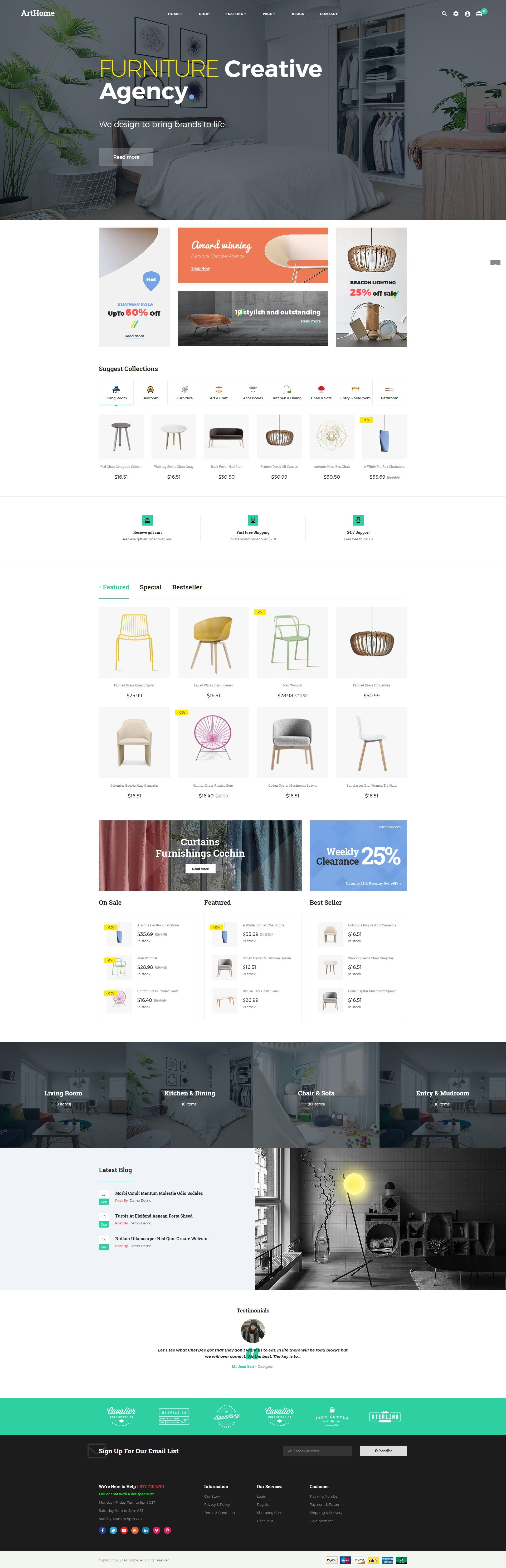 Pts - ArtHome - PrestaShop Furniture Theme Screenshot 2