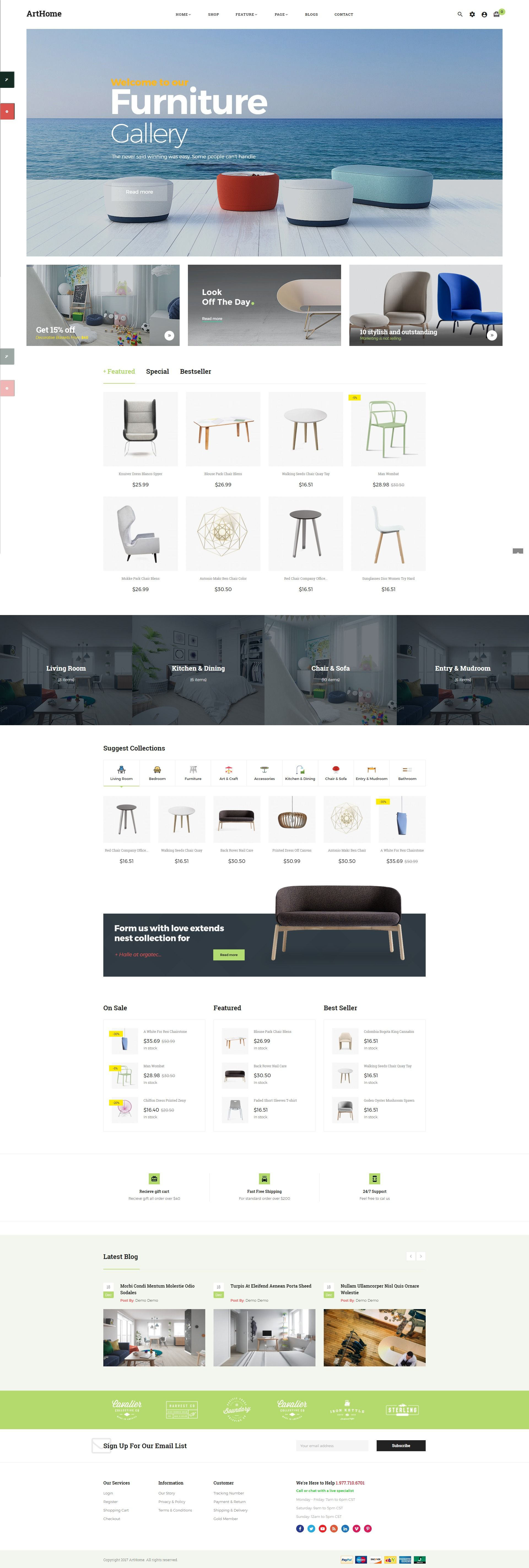 Pts - ArtHome - PrestaShop Furniture Theme Screenshot 3