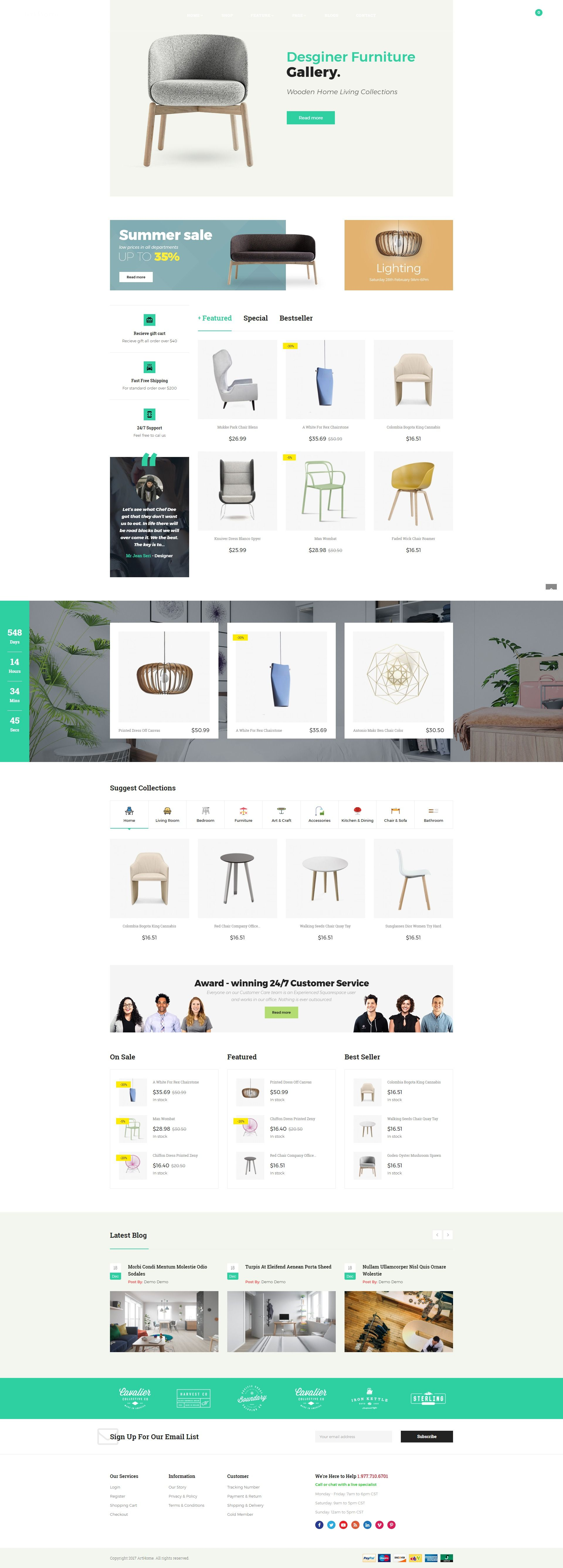 Pts - ArtHome - PrestaShop Furniture Theme Screenshot 4
