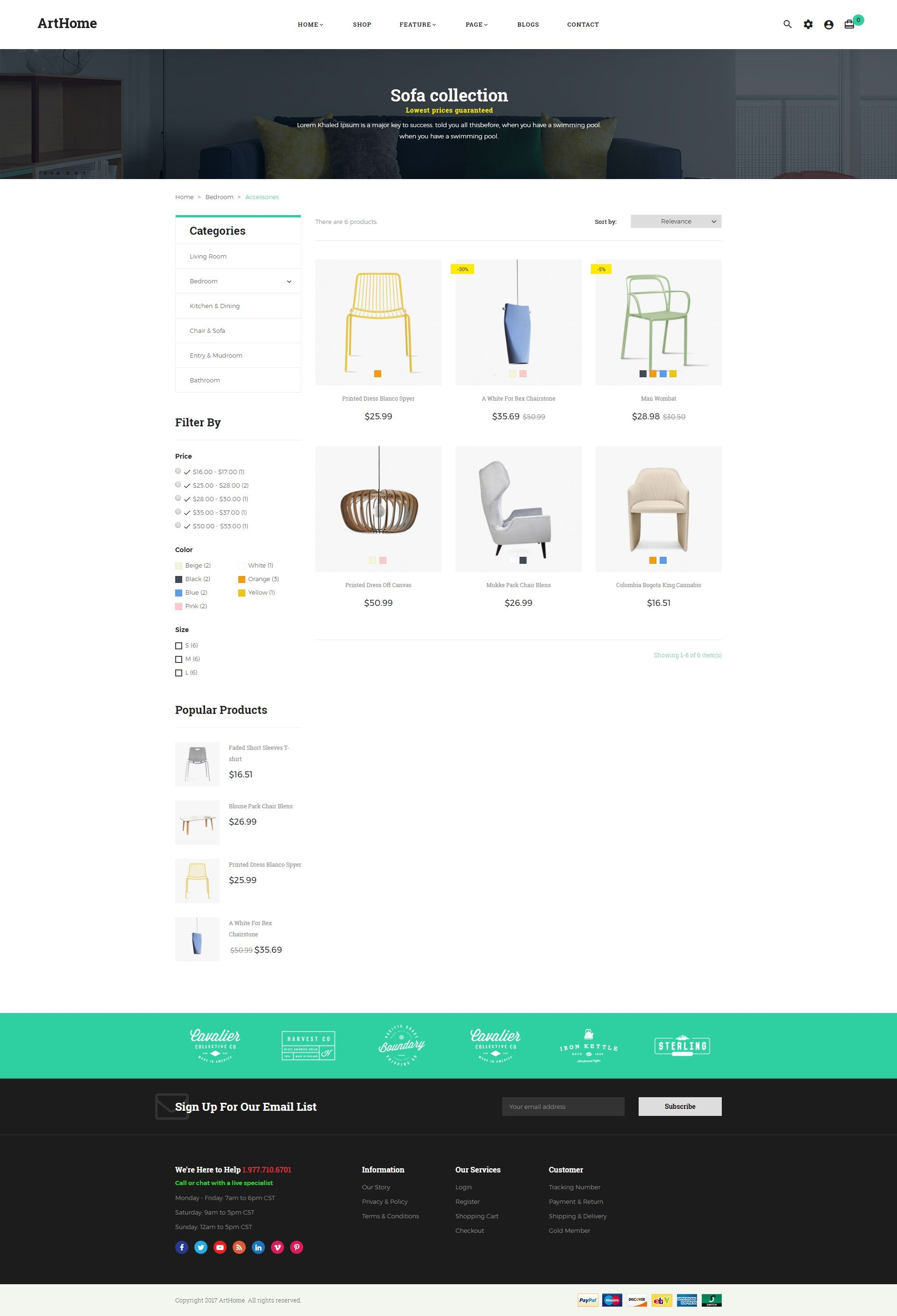 Pts - ArtHome - PrestaShop Furniture Theme Screenshot 5