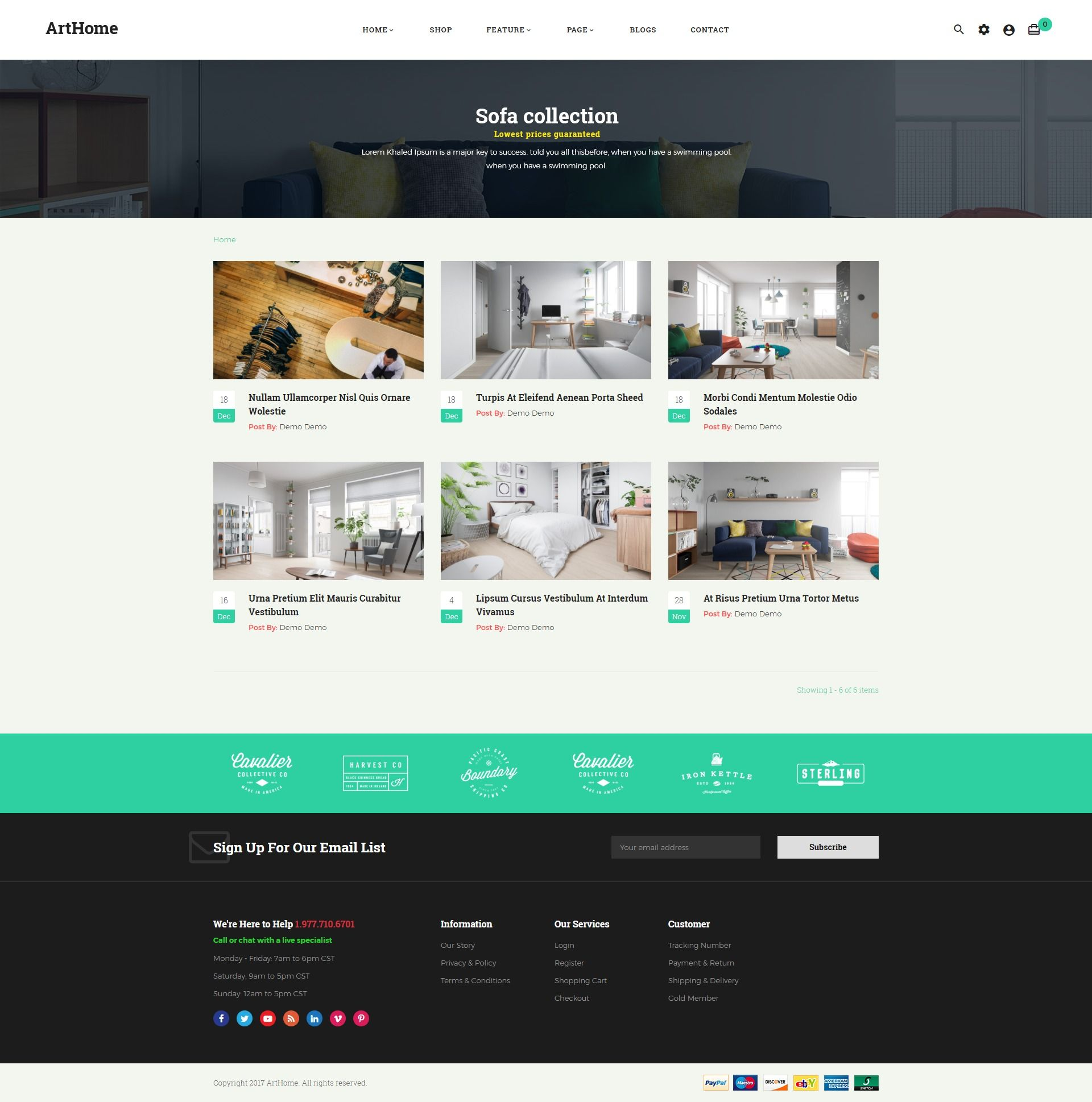 Pts - ArtHome - PrestaShop Furniture Theme Screenshot 6