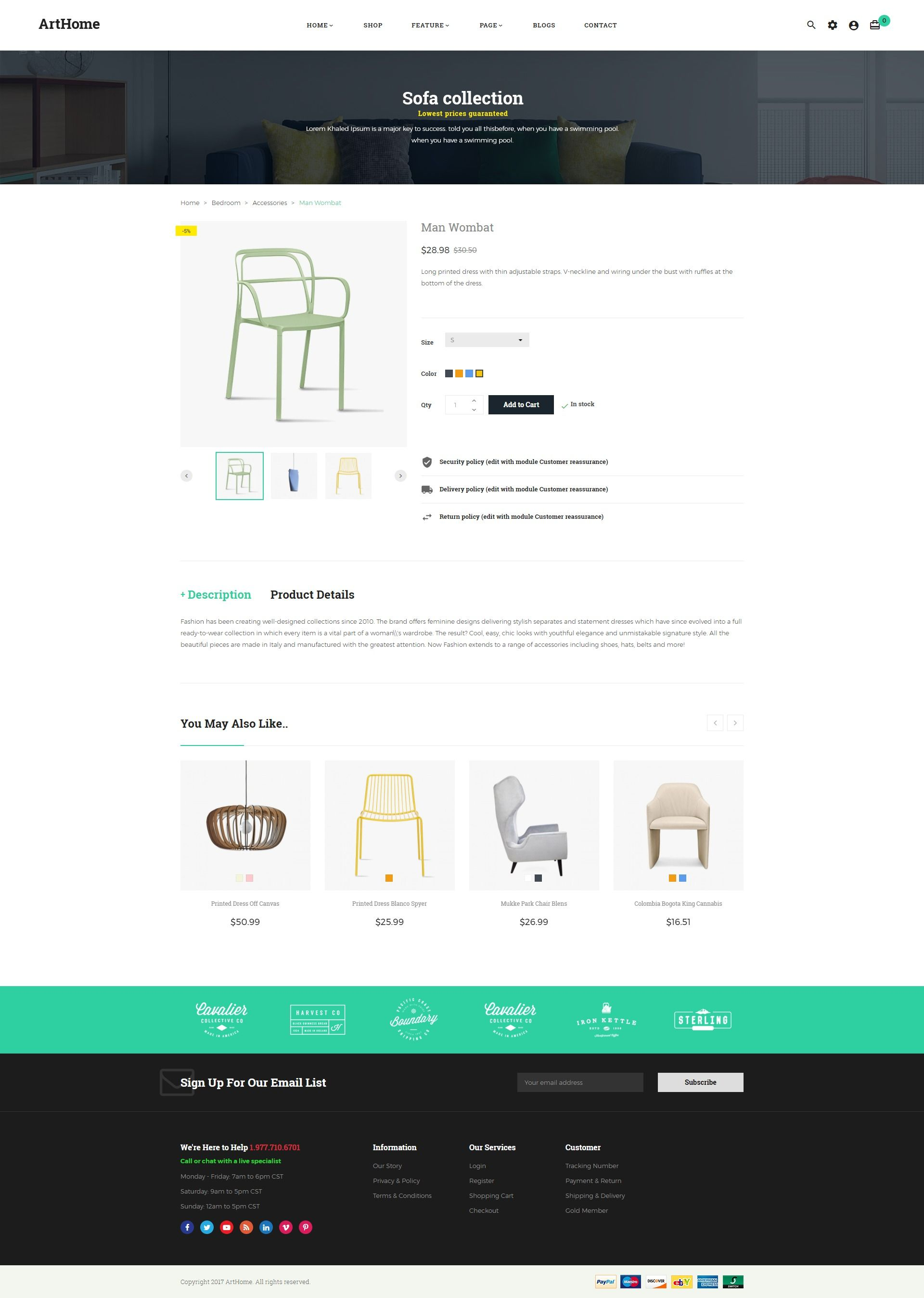 Pts - ArtHome - PrestaShop Furniture Theme Screenshot 7