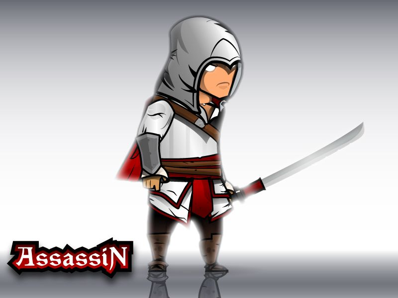 The Light Assassin Game Character Sprites  Screenshot 1