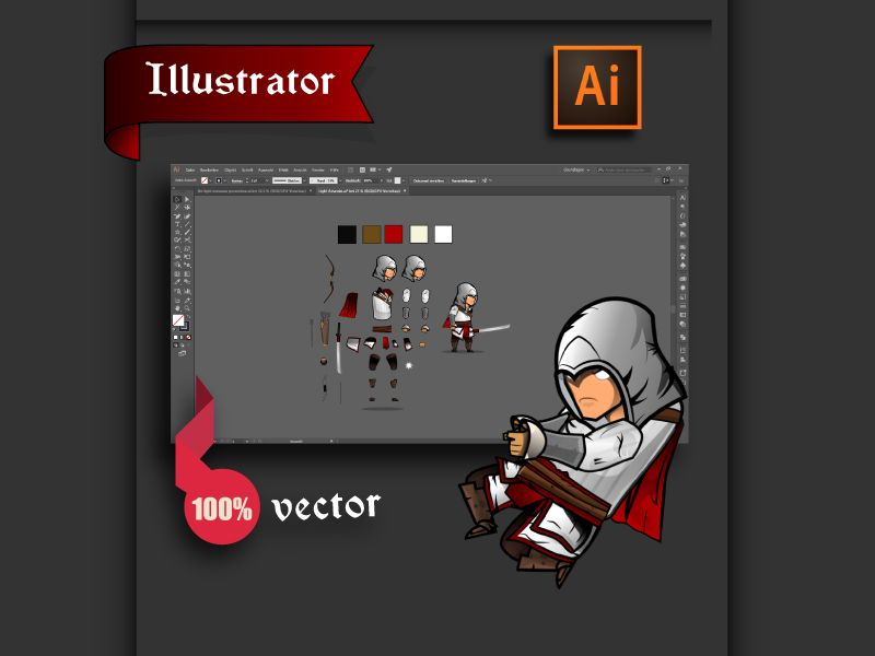 The Light Assassin Game Character Sprites  Screenshot 3