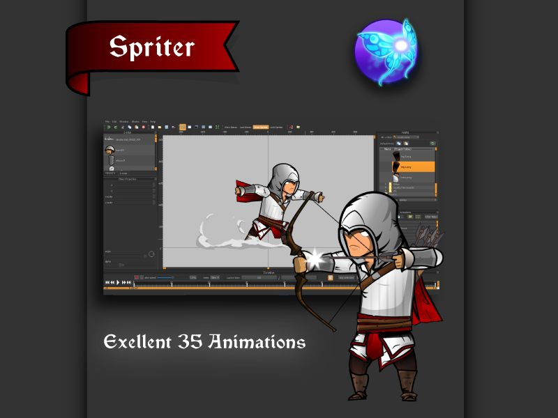 The Light Assassin Game Character Sprites  Screenshot 4
