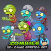 6-Zombies Game Character Sprites Pack