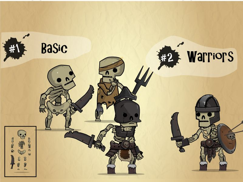 Skeleton Army Character Assets Screenshot 1