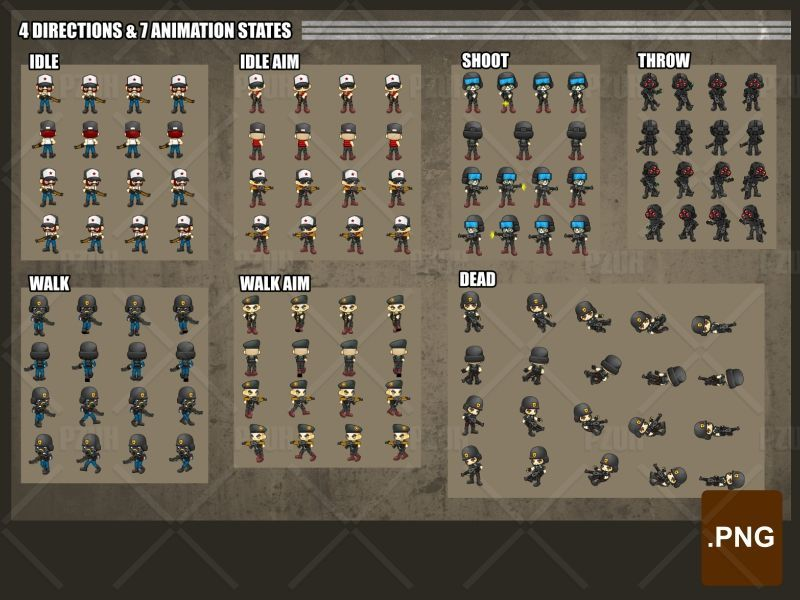 The Soldiers - Game Sprites Screenshot 1