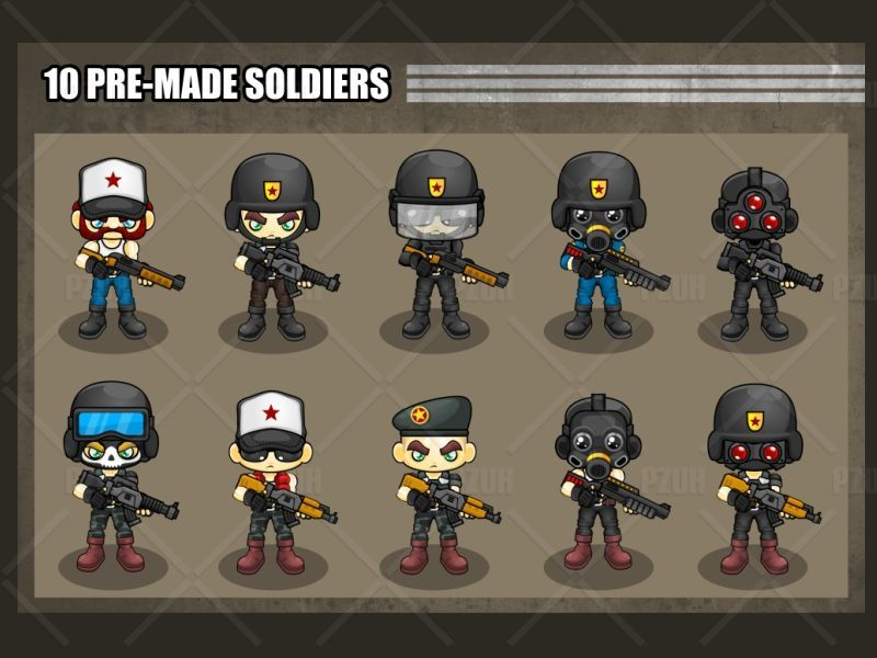 The Soldiers - Game Sprites Screenshot 2