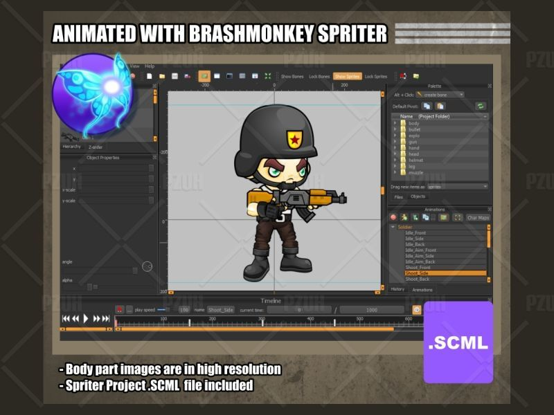 The Soldiers - Game Sprites Screenshot 3