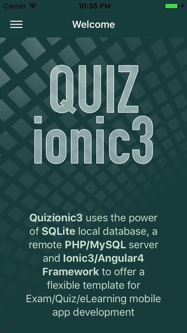 Quizionic 3 - Full Quiz App Template For Ionic 3 Screenshot 1