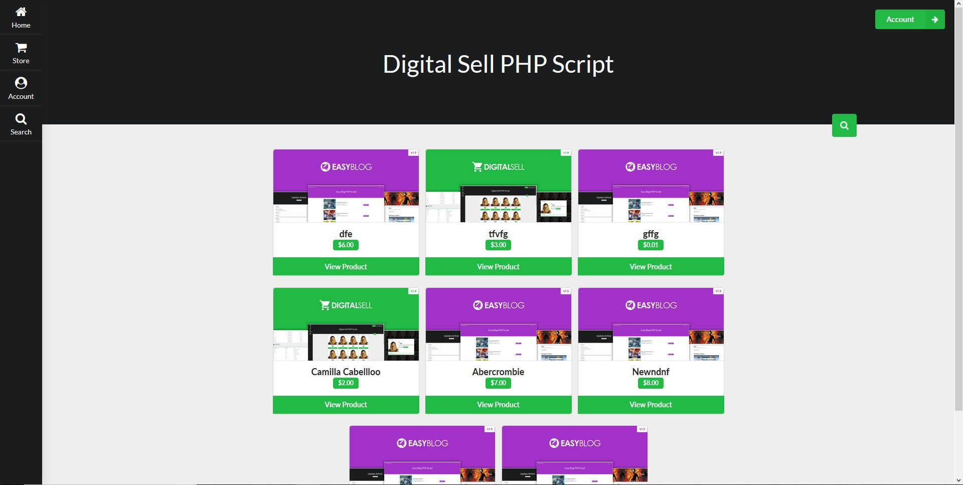 Digital Sell PHP Script Screenshot 1