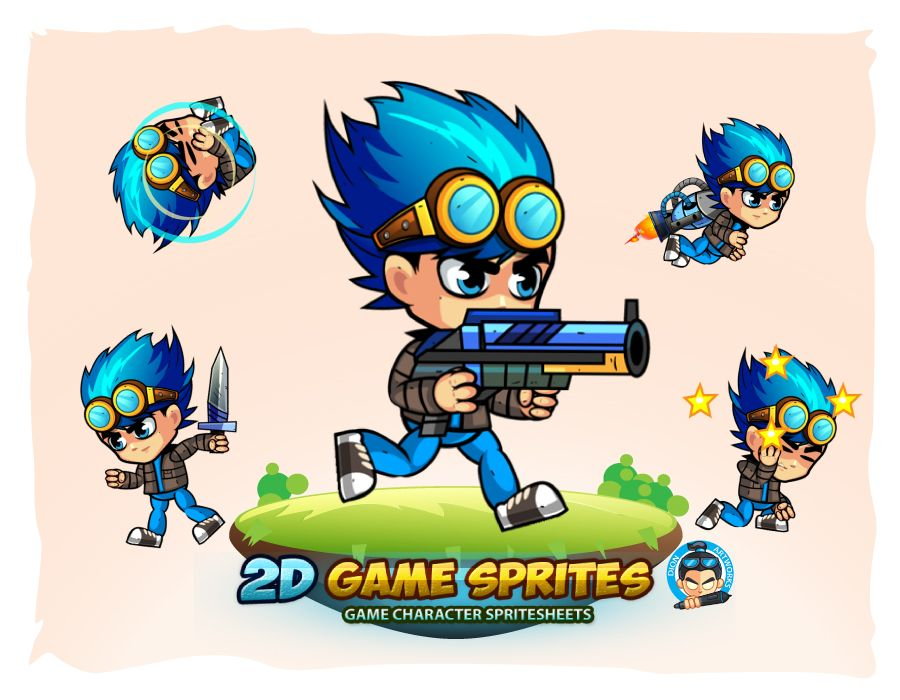 2D Game Character Sprites 9 Screenshot 1