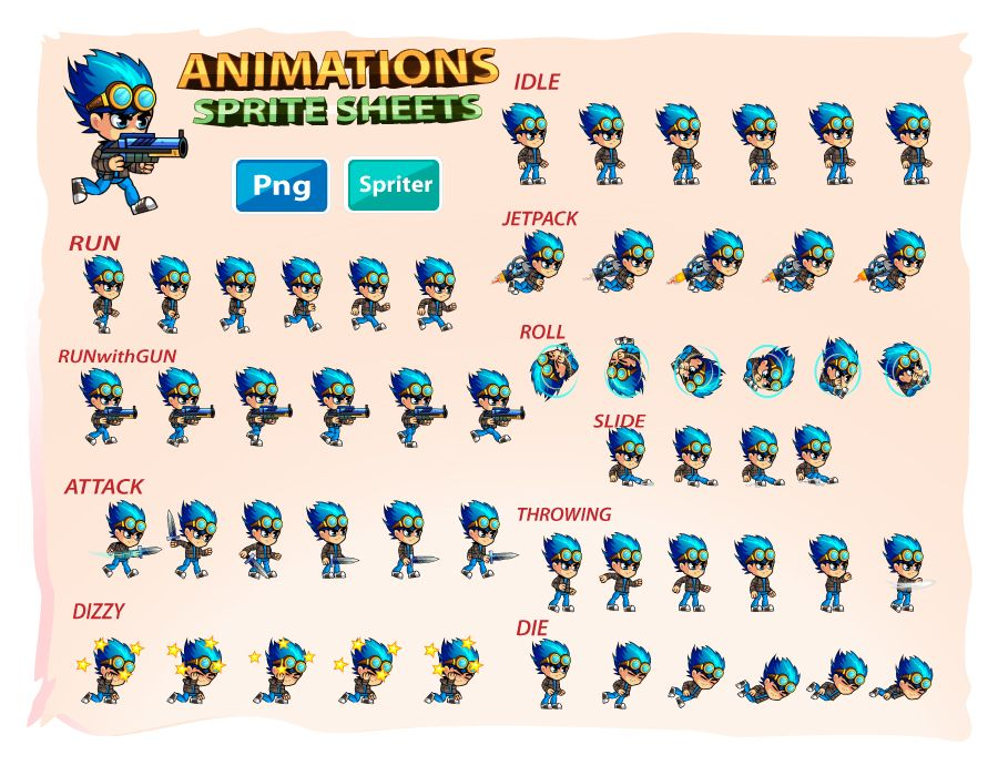 2D Game Character Sprites 9 Screenshot 2
